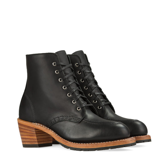 No. 3405 - Red Wing Heritage Clara Heeled Boot in Black Boundary Leather