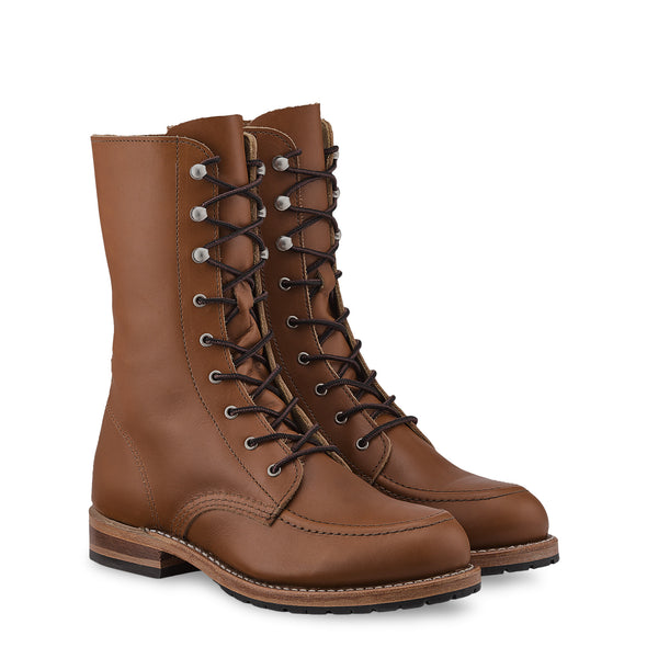 No. 3431- Red Wing Heritage Gracie Tall Boot in Pecan Boundary Leather