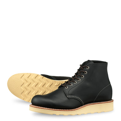"No. 3450 - Red Wing Heritage 6"" Round Short Boot in Black Boundary Leather"