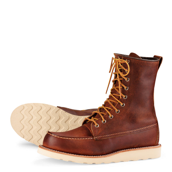 "No. 8830 - Red Wing Heritage 8"" Classic Moc in Copper Rough & Tough Leather"