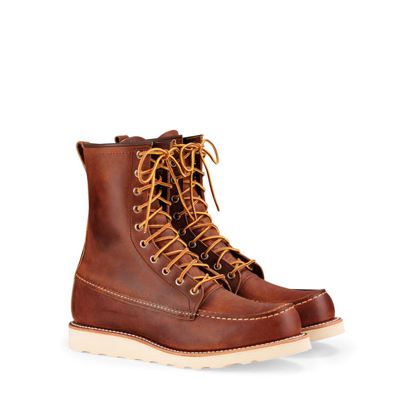"SHIP NOW: No. 8830 - Men's Red Wing Heritage 8"" Classic Moc in Copper Rough & Tough Leather"
