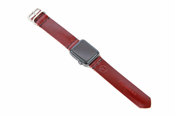 No. 718 - Apple Watchband in Buffalo Red