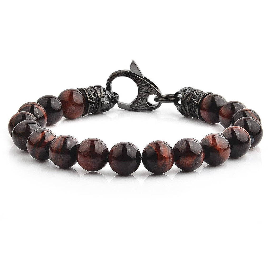 Red & Black Tiger's Eye Bracelet by West Coast Jewelry