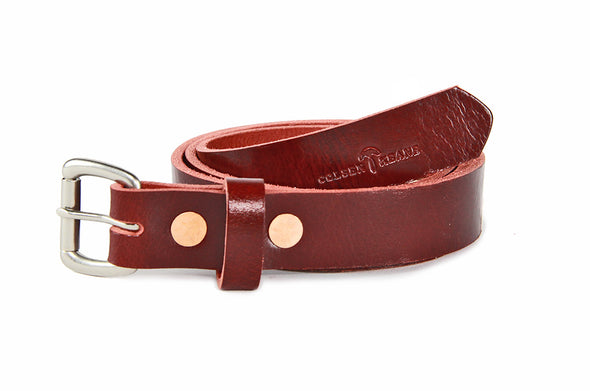 No. 814 - Skinny Belt in Buffalo Red