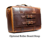 No. 4313 - Brown Distressed Minimalist Leather Satchel - SOLD OUT