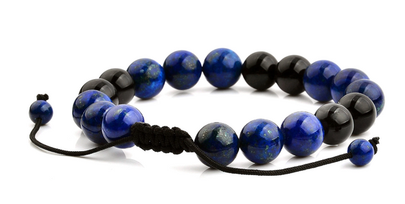 Polished Blue & Black Stone Bracelet by West Coast Jewelry