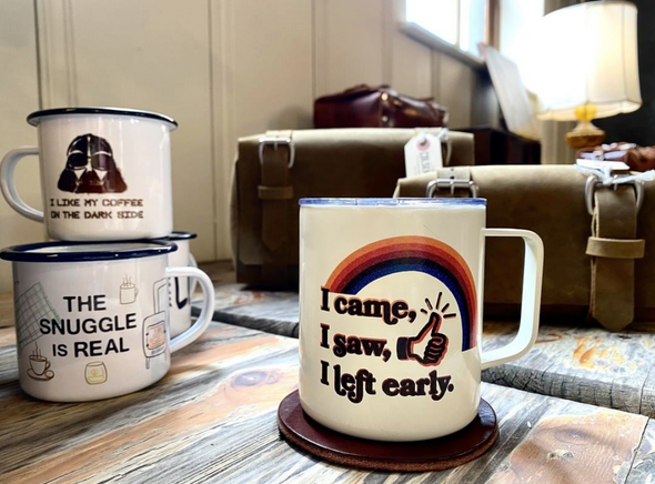 I Came, I Saw, I Left Early Insulated Camp Style Travel Mug