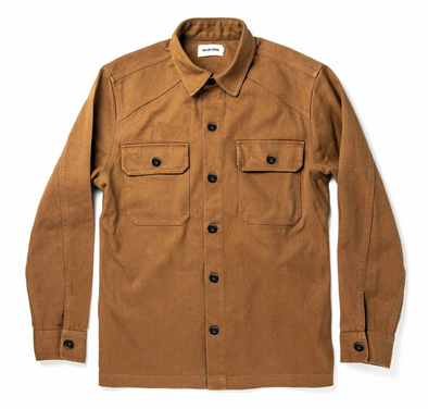 The Shop Shirt in British Khaki Boss Duck by Taylor Stitch