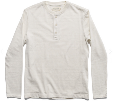 The Heavy Bag Henley in Natural by Taylor Stitch
