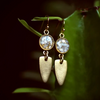 The Maya Earrings - Crushed Gem Shield