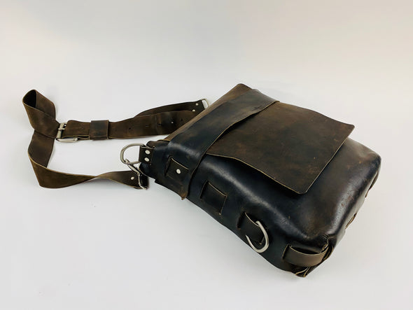 Seasoned No. 820 - The Classic Handmade Leather Bag in our original Crazy Horse