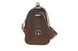 No. 4311 - Standard Leather Satchel in Crazy Horse