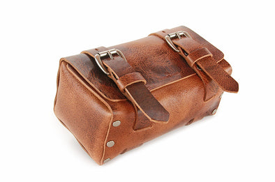 No. 215 - Small Travel Case in Glazed Tan