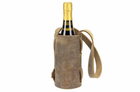 No. 119 - Single Wine Carrier in Crazy Horse