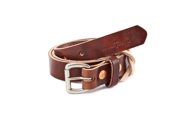 No. 814 - Skinny Work Belt Havana Brown