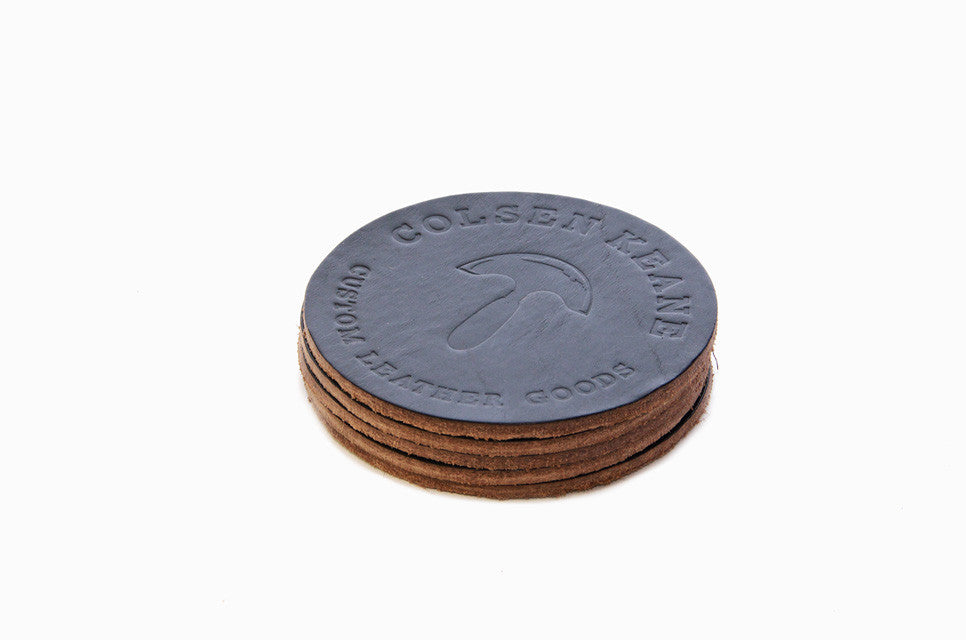 No. 314 - Six LIMITED Coasters in Horween's Black