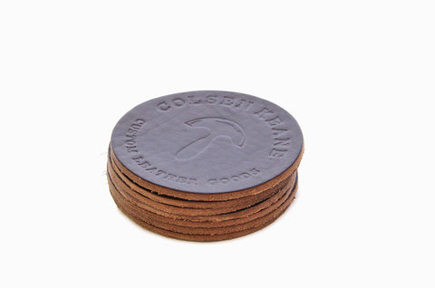 No. 314 - Six LIMITED Coasters in Horween's Brown