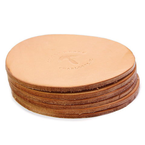 No. 314W - Six Coasters in Natural Tan