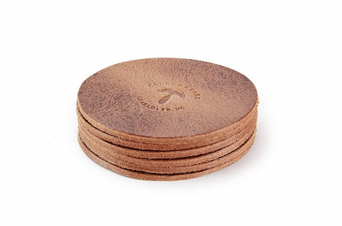 No. 314 - Six Coasters in Glazed Tan
