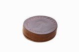 No. 314 - Six LIMITED Coasters in Horween's Natural Brown