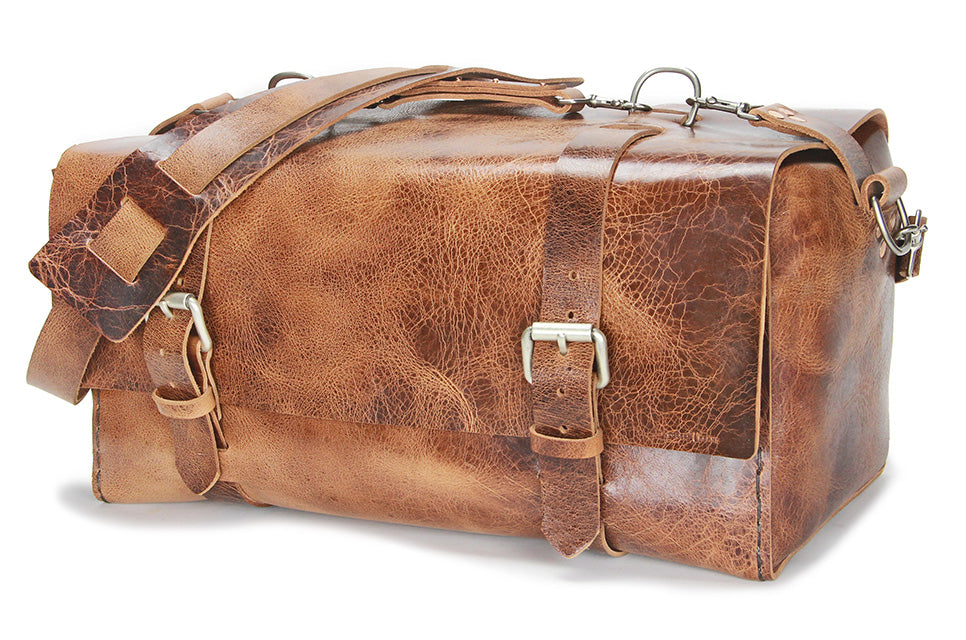 No. 613 - Large Duffle in Glazed Tan
