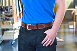 No. 518 - The Beefy Stitched Work Belt in Havana Brown