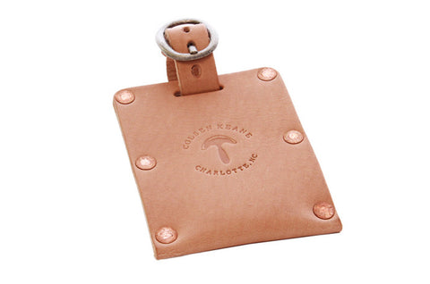 No. 615 - Luggage Tag in Natural Tan