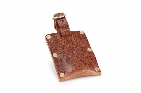 No. 615 - Luggage Tag in Glazed Tan