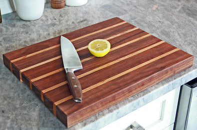 The Ashley - Striped Walnut & Maple Cutting Board by Dogwood Farm Designs