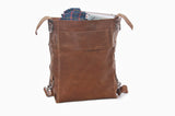 No. 820 - The Classic Handmade Leather Bag in Tan Crazy Horse- SOLD OUT