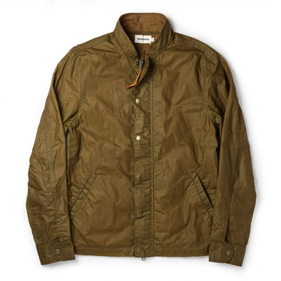 The Bomber Jacket in Field Tan Wax Canvas by Taylor Stitch