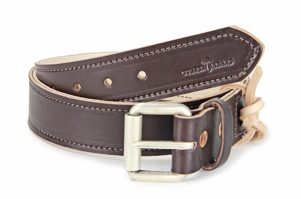 No. 518 - The Beefy Stitched Work Belt in Bridle Brown