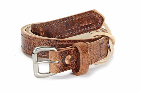 No. 418 - The Skinny Work Belt in Glazed Tan