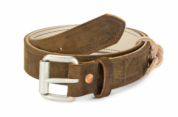 No. 518 - The Beefy Stitched Work Belt in Crazy Horse