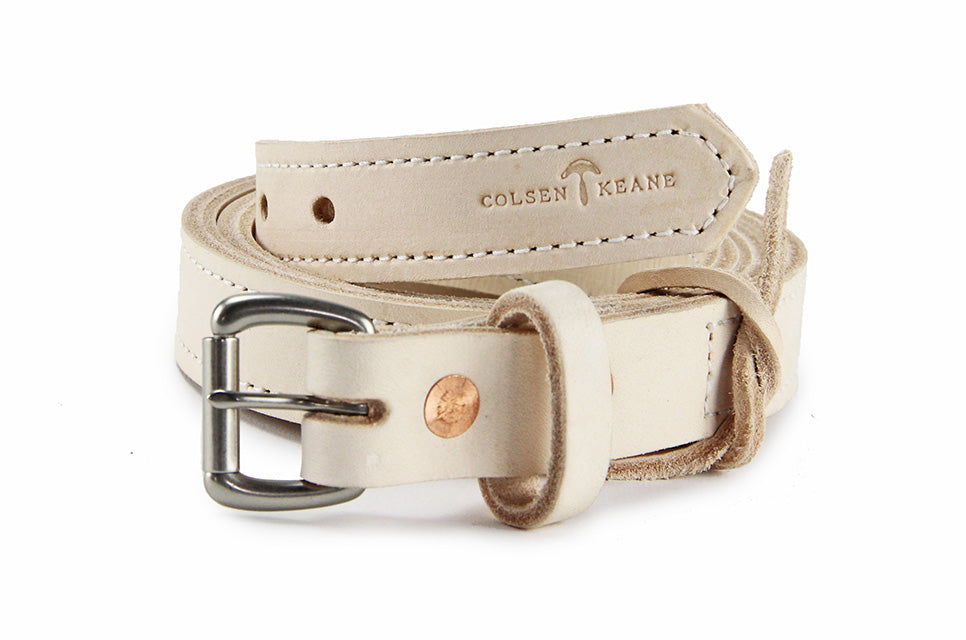 No. 418 - The Skinny Work Belt in Natural Tan