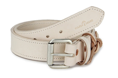 No. 518 - The Beefy Stitched Work Belt in Natural Tan