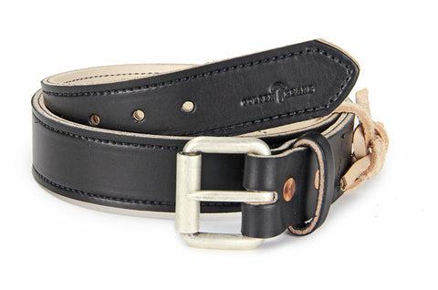 No. 518 - The Beefy Stitched Work Belt in Bridle Black