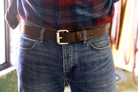 No. 914 - Work Belt in Bridle Brown