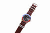 No. 515 Three Ring Leather Watch Band w/ Stainless Steel & Scotch Grunge Leather