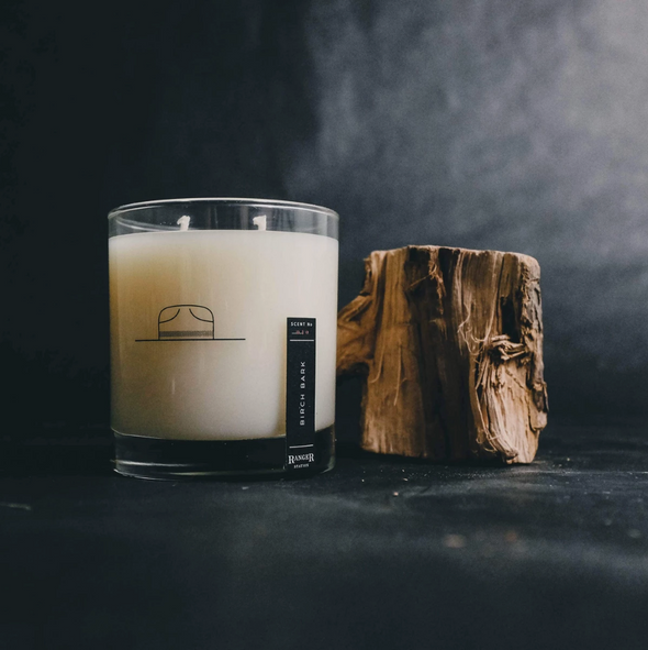 Birch Bark Candle by Ranger Station