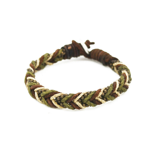 Aadi Brown Braided Men's Bracelet