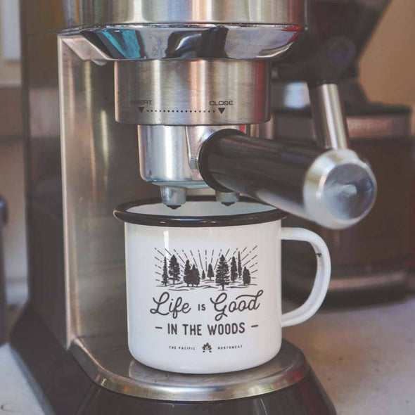Life Is Good In The Woods Camp Mug