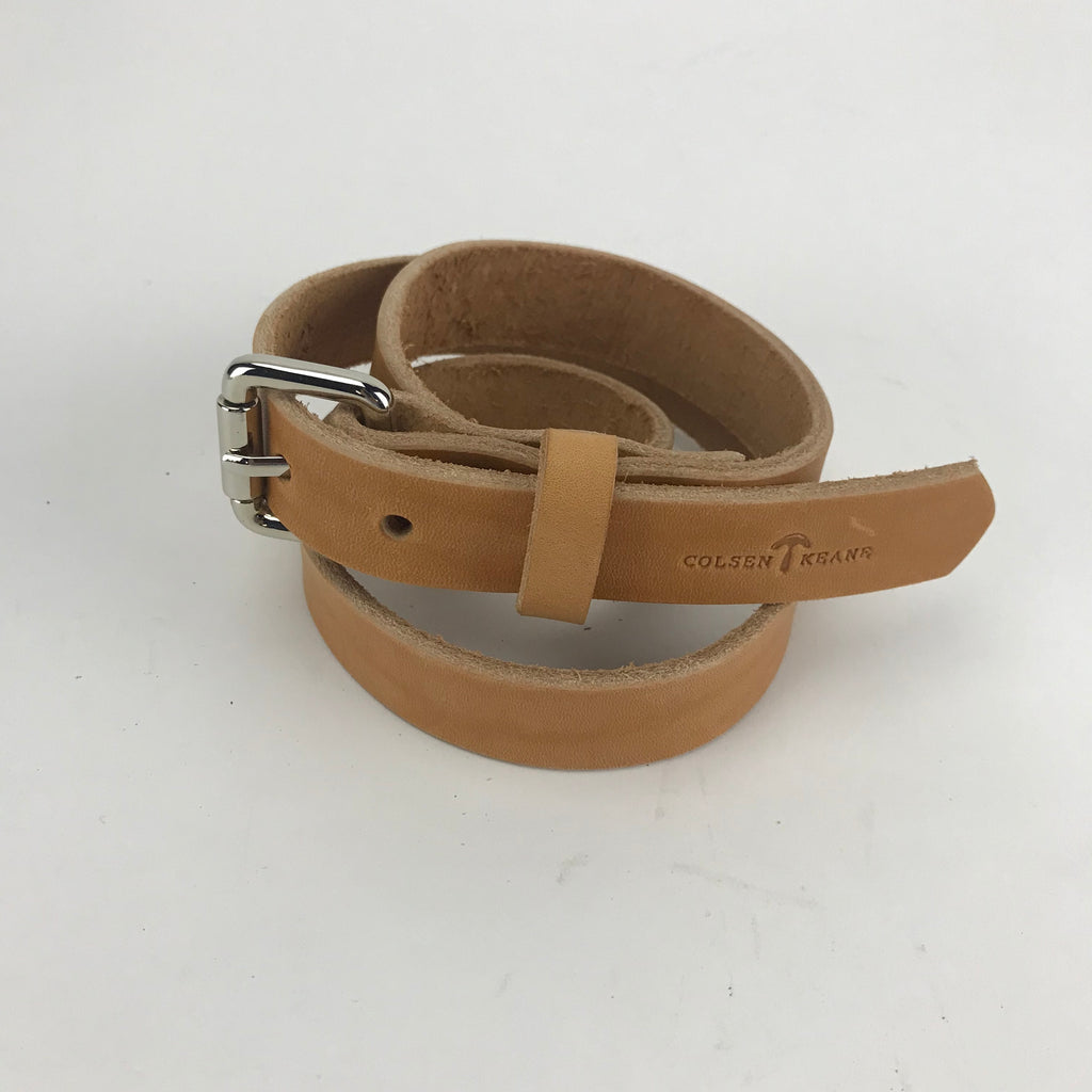 "No. 814 - Skinny Work Belt in Natural Tan - SIZE 34"" - S56 - $34"