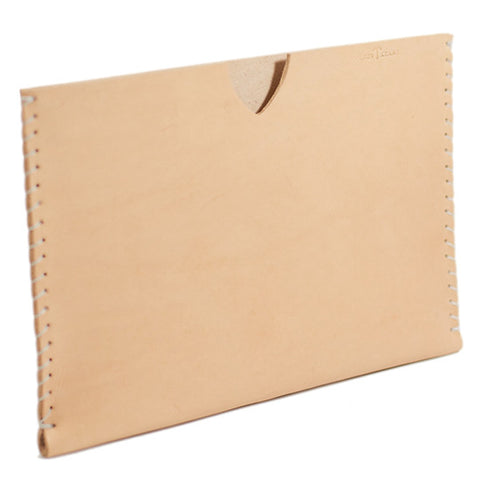 No. 410 - Simple iPad Sheath in Natural Tan