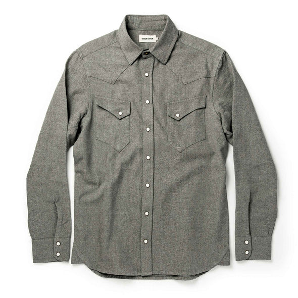 The Western Shirt in Olive Melange by Taylor Stitch