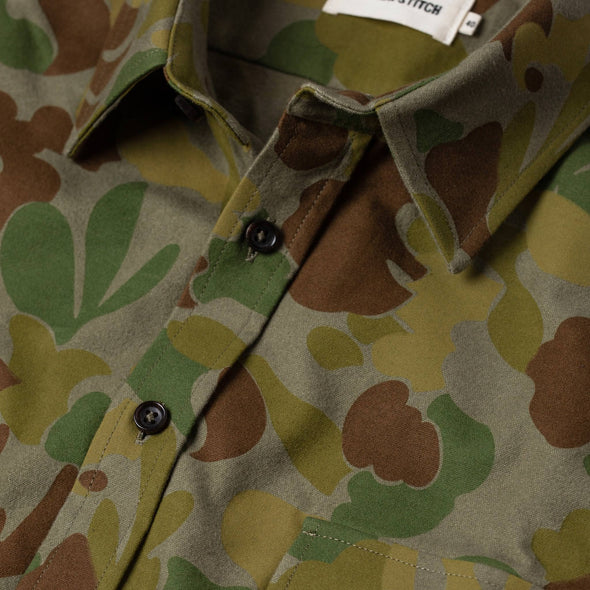 The Yosemite Shirt in Arid Camo by Taylor Stitch