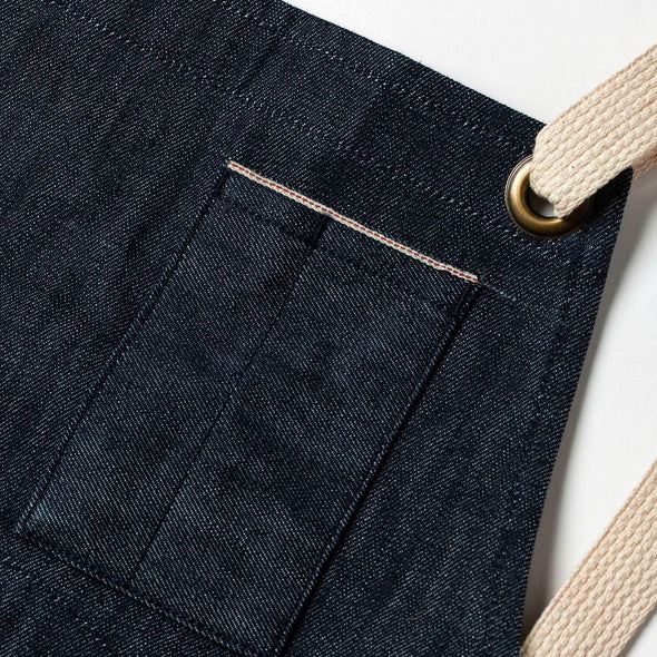 The Work Apron in Cone Mills Reserve Selvage by Taylor Stitch