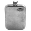 No. 618 - Vintage Pewter Hip Flask w/ Leather Wrap in Glazed Tan