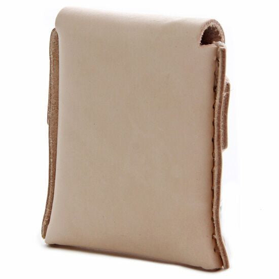 No. 1111 - LIMITED Square MicroWallet w/ Cover in Natural Tan