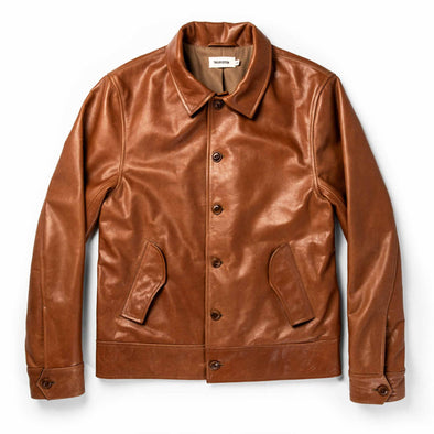 The Cuyama Jacket in Cognac by Taylor Stitch